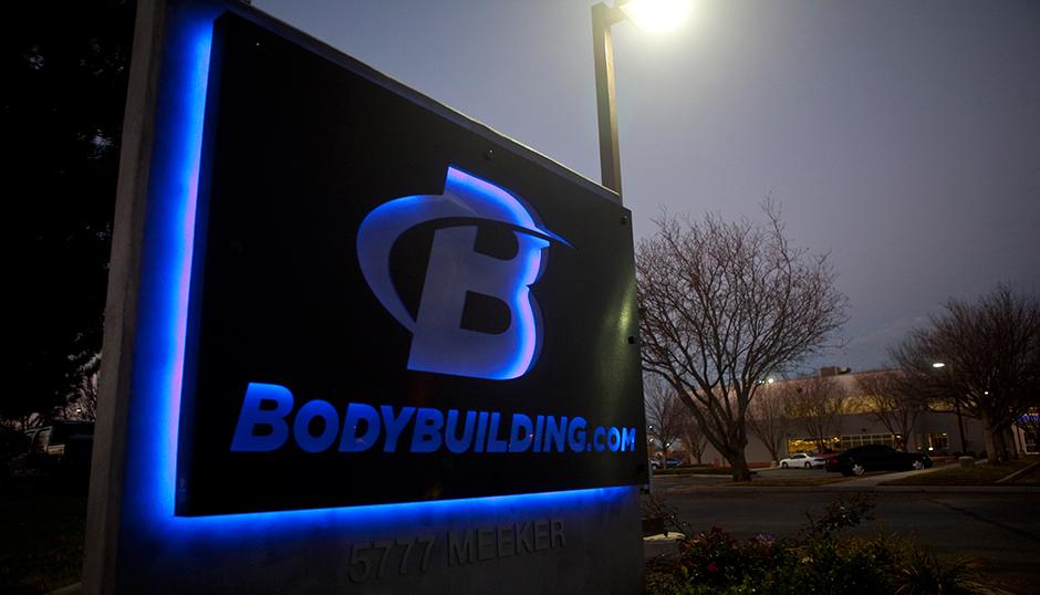 Вывеска головного офиса bodybuilding.com в Бойсе, США