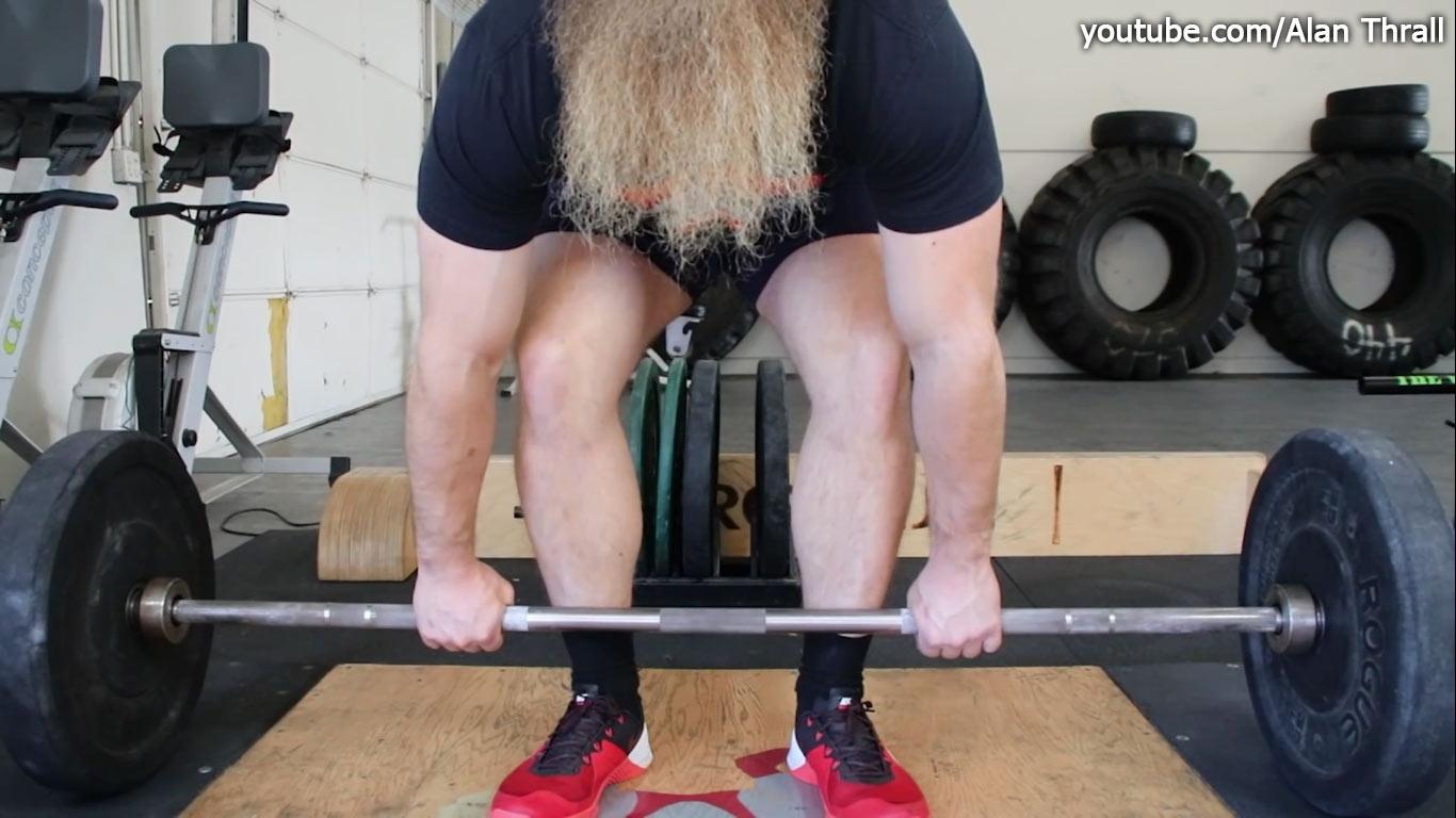 Становая тяга: середина стопы